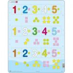 Larsen-AR15 Rahmenpuzzle - Die Zahlen von 1 bis 5