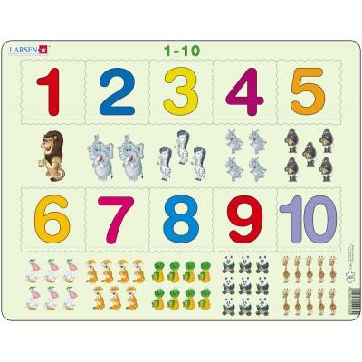 Larsen-AR3 Rahmenpuzzle - Mathematik: Die Zahlen von 1 bis 10