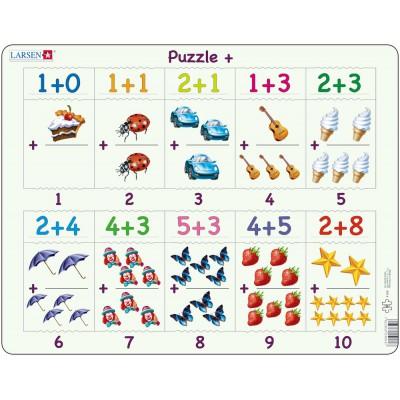 Larsen-AR4 Rahmenpuzzle - Mathematik: Addieren