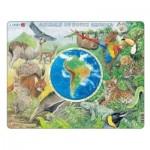 Larsen-AW5-FR Rahmenpuzzle - Tiere in Südamerika (auf Französich)