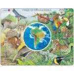 Larsen-AW5 Rahmenpuzzle - Tiere in Südamerika