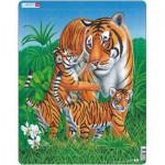 Larsen-D6 Rahmenpuzzle - Tiger