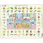 Larsen-EN1 Rahmenpuzzle - Learning English 1: In der Küche