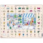 Larsen-EN2 Rahmenpuzzle - Learning English 2: Im Restaurant und in der Stadt