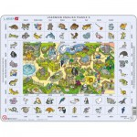 Larsen-EN5 Rahmenpuzzle - Learning English 5: Tiere