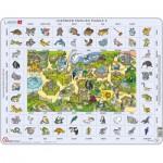 Larsen-EN5 Rahmenpuzzle - Learning English 5: Tiere