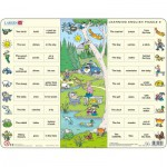 Larsen-EN9 Rahmenpuzzle - Learning English 9: Spaziergang auf dem Land