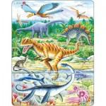 Larsen-FH16 Rahmenpuzzle - Dinosaurier