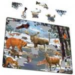 Larsen-FH32 Rahmenpuzzle - Die Tiere aus dem Wald