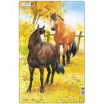 Larsen-H15-2 Rahmenpuzzle - Pferde