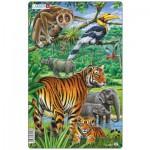 Larsen-H21-1 Rahmenpuzzle - Dschungel