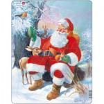 Larsen-JUL7 Rahmenpuzzle - Der Weihnachtsmann im Wald