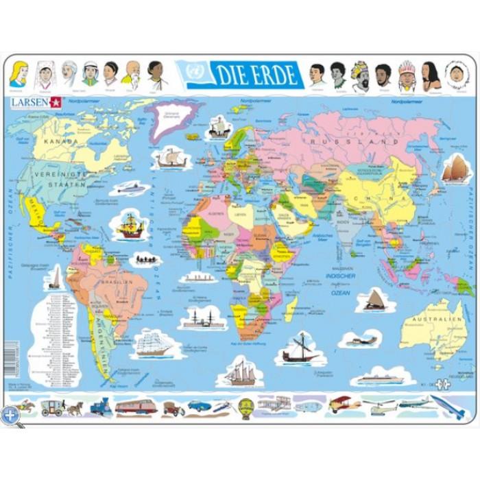 Rahmenpuzzle - Weltkarte