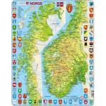 Larsen-K10 Rahmenpuzzle - Norwegen (auf Norwegisch)