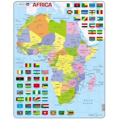 Larsen-K13-GB Rahmenpuzzle - Afrika (auf Englisch)