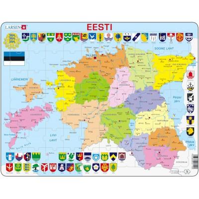 Larsen-K14 Rahmenpuzzle - Estland (auf Estnisch)