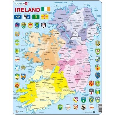 Larsen-K15 Rahmenpuzzle - Irland (auf Englisch)