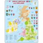 Larsen-K18 Rahmenpuzzle - Great Britain and Ireland (auf Englisch)