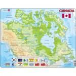 Larsen-K19 Rahmenpuzzle - Kanada (auf Französisch und Englisch)