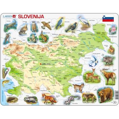 Larsen-K25 Rahmenpuzzle - Slowenien (auf Slowenisch)