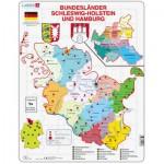 Larsen-K28 Rahmenpuzzle - Bundesland: Hamburg and Schleswig-Holstein