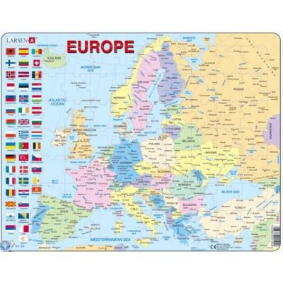 Larsen-K2T-FR Rahmenpuzzle - Europa (auf Französisch)