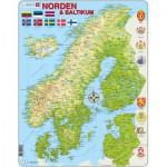 Larsen-K3 Rahmenpuzzle - Die nordischen und baltischen Länder