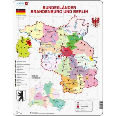 Larsen-K30 Rahmenpuzzle - Brandenburg und Berlin