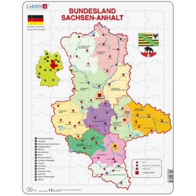 Larsen-K31 Rahmenpuzzle - Bundesland: Sachsen-Anhalt