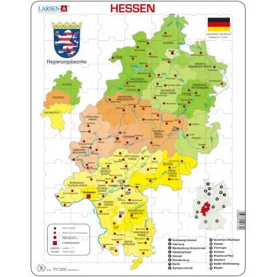 Larsen-K32-DE Rahmenpuzzle - Hessen