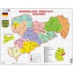 Larsen-K34 Rahmenpuzzle - Bundesland: Freistaat Sachsen
