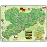 Larsen-K38-DE Rahmenpuzzle - Bundesland: Sachsen