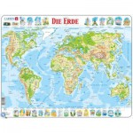 Larsen-K4-DE Rahmenpuzzle - Weltkarte