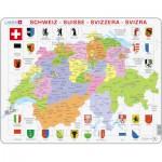 Larsen-K43 Rahmenpuzzle - Die Schweiz