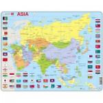 Larsen-K44-EN Rahmenpuzzle - Asien (auf Englisch)