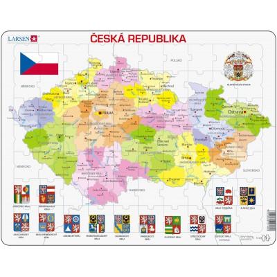 Larsen-K48 Rahmenpuzzle - Tschechische Republik (auf Tschechisch)
