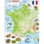 Larsen-K49 Rahmenpuzzle - Frankreich (auf Französisch)