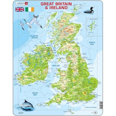 Larsen-K5 Rahmenpuzzle - Great Britain & Ireland (auf Englisch)