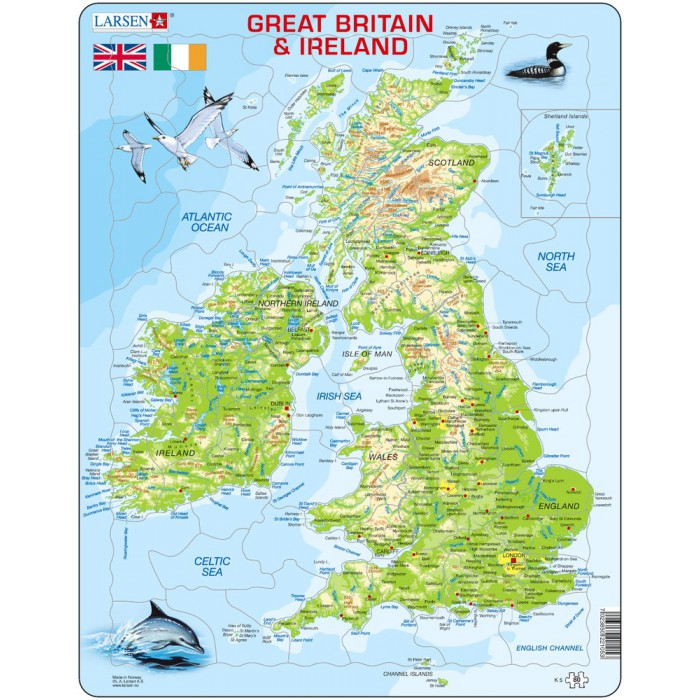 Rahmenpuzzle - Great Britain & Ireland (auf Englisch)