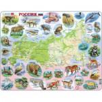Larsen-K50 Rahmenpuzzle - Russland (auf Russisch)