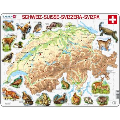 Larsen-K51 Rahmenpuzzle - Die Schweiz