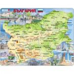 Larsen-K52 Rahmenpuzzle - Bulgarien (auf Bulgarisch)