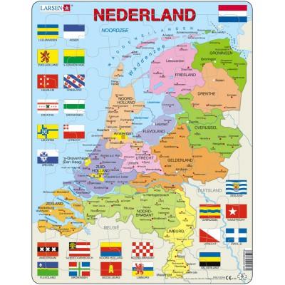 Larsen-K53 Rahmenpuzzle - Die Niederlande (auf Holländisch)