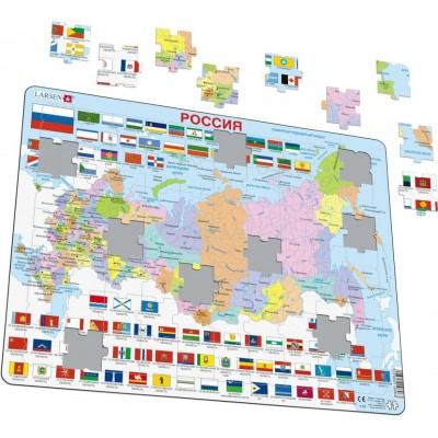 Larsen-K55 Rahmenpuzzle - Russlandkarte (auf Russisch)