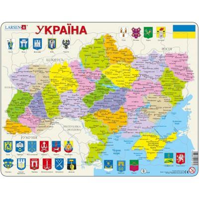 Larsen-K57 Rahmenpuzzle - Ukraine (auf Ukrainisch)