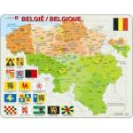 Larsen-K59 Rahmenpuzzle - Belgien (auf Französisch und Flämisch)