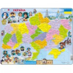 Larsen-K62 Rahmenpuzzle - Ukraine (auf Ukrainisch)
