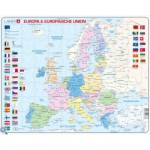 Larsen-K63-DE Rahmenpuzzle - Europa