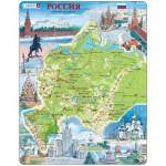 Larsen-K64 Rahmenpuzzle - Russland, Europäischer Teil (auf Russisch)