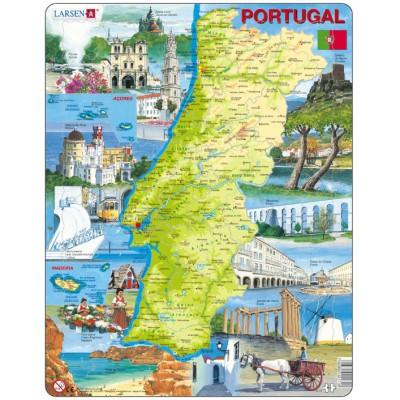 Larsen-K71 Rahmenpuzzle - Portugal (auf Portugiesisch)